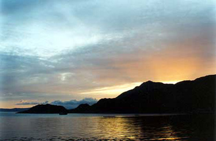 Sunset over Loch Hourn, May 1998